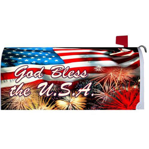 God Bless the USA Standard Mailbox Cover - FlagsOnline.com by CRW Flags Inc.