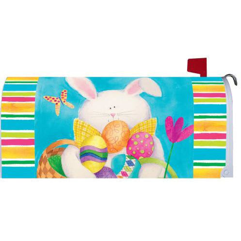 Bunny & Stripes Standard Mailbox Cover