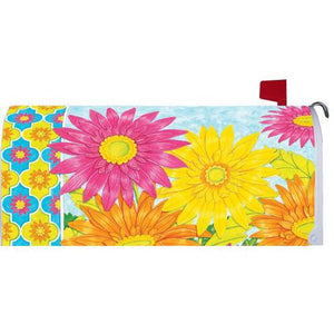 Vibrant Daisies Standard Mailbox Cover - FlagsOnline.com by CRW Flags Inc.