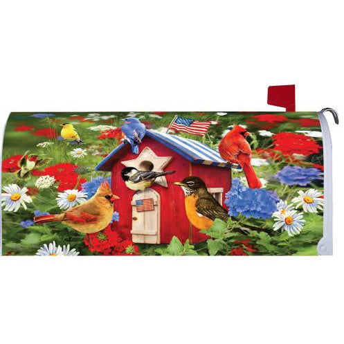 Patriotic Birdhouses Standard Mailbox Cover - FlagsOnline.com by CRW Flags Inc.