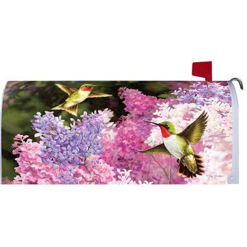 Lilac Hummers Standard Mailbox Cover - FlagsOnline.com by CRW Flags Inc.