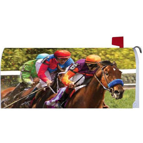 Race Horses Standard Mailbox Cover