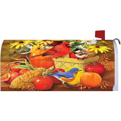 Autumn Songbirds Standard Mailbox Cover