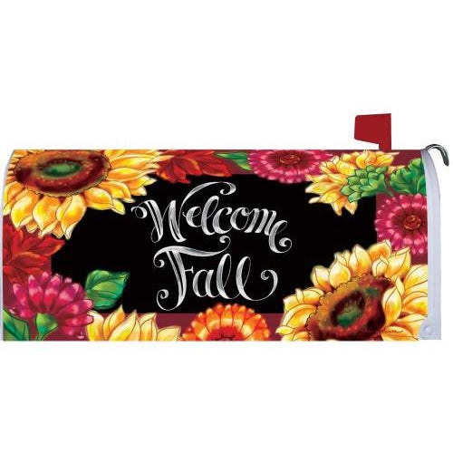 Welcome Sunflowers Standard Mailbox Cover