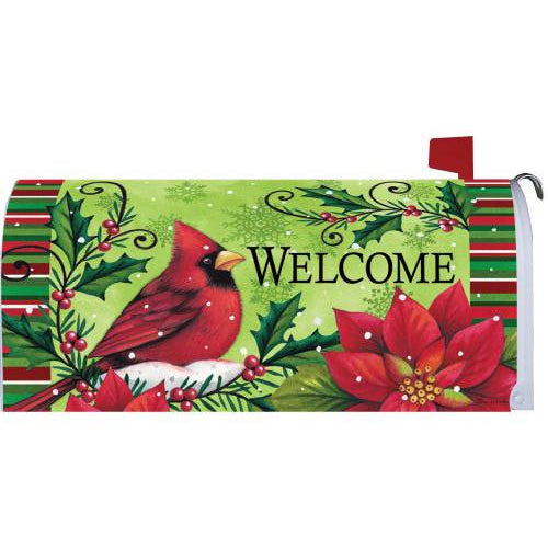 Welcome Cardinal Standard Mailbox Cover - FlagsOnline.com by CRW Flags Inc.