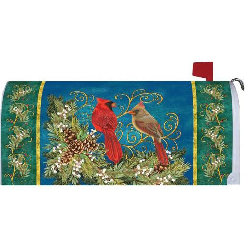 Winter Cardinal Standard Mailbox Cover - FlagsOnline.com by CRW Flags Inc.