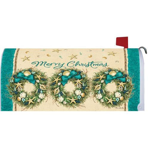 Coastal Wreath Standard Mailbox Cover