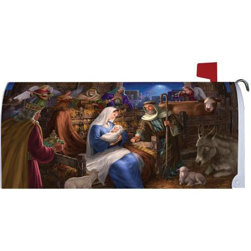 Holy Nativity Standard Mailbox Cover - FlagsOnline.com by CRW Flags Inc.