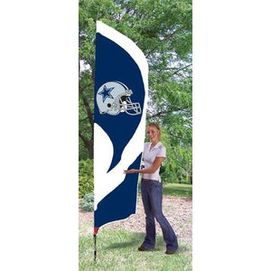 Dallas Cowboys 8ft Feather Sewn Flag Kit