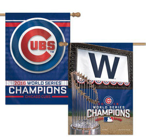 Chicago Cubs 2016 World Series Champs House Flag 2 Sided