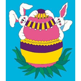 Bunny Fun - House Flag - FlagsOnline.com by CRW Flags Inc.