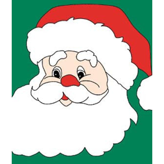Santa Face - House Flag