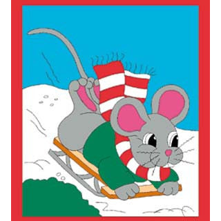 Sledding Mouse - House Flag