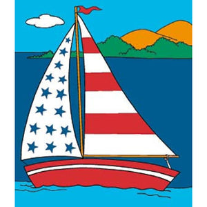 SS Liberty Sailboat - House Flag - FlagsOnline.com by CRW Flags Inc.