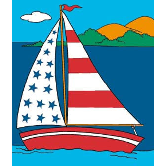 SS Liberty Sailboat - House Flag