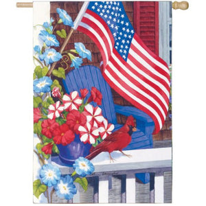 Patriotic Perch - Garden Flag - FlagsOnline.com by CRW Flags Inc.