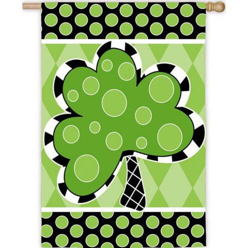 Patterned Shamrock - House Flag - FlagsOnline.com by CRW Flags Inc.