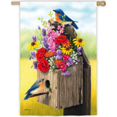Bouquet Birdhouse - Garden Flag - FlagsOnline.com by CRW Flags Inc.