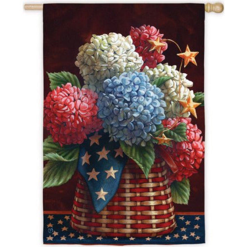 Patriotic Blooms - House Flag - FlagsOnline.com by CRW Flags Inc.