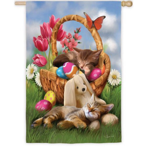 Hard Day with the Easter Bunny - House Flag - FlagsOnline.com by CRW Flags Inc.