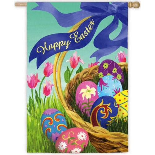 Elegant Easter Basket - House Flag - FlagsOnline.com by CRW Flags Inc.