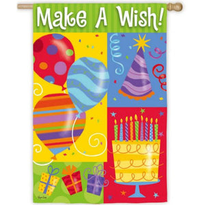 Make A Wish - House Flag - FlagsOnline.com by CRW Flags Inc.