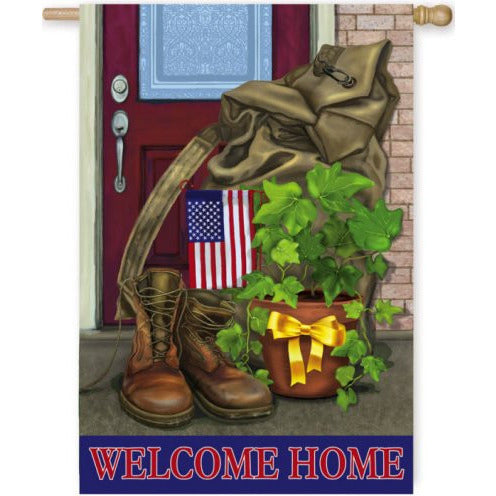 Soldier Welcome Home - House Flag - FlagsOnline.com by CRW Flags Inc.