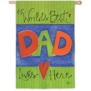 World's Best Dad I - House Flag - FlagsOnline.com by CRW Flags Inc.