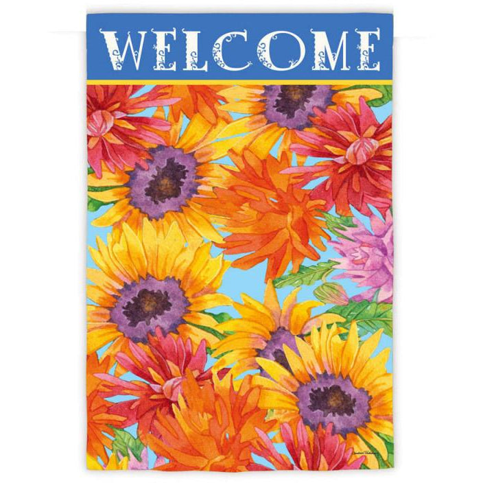 Floral Rainbow - Garden Flag - FlagsOnline.com by CRW Flags Inc.