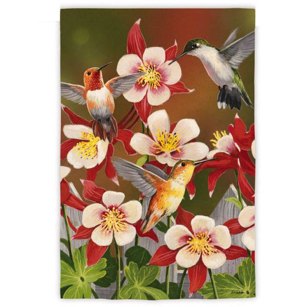 Flurry of Hummingbirds - Garden Flag - FlagsOnline.com by CRW Flags Inc.