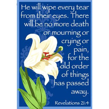 He Will Wipe Every Tear - Garden Flag - FlagsOnline.com by CRW Flags Inc.