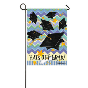 Hats Off Grad - Garden Flag - FlagsOnline.com by CRW Flags Inc.