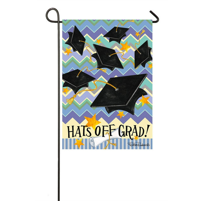 Hats Off Grad - Garden Flag