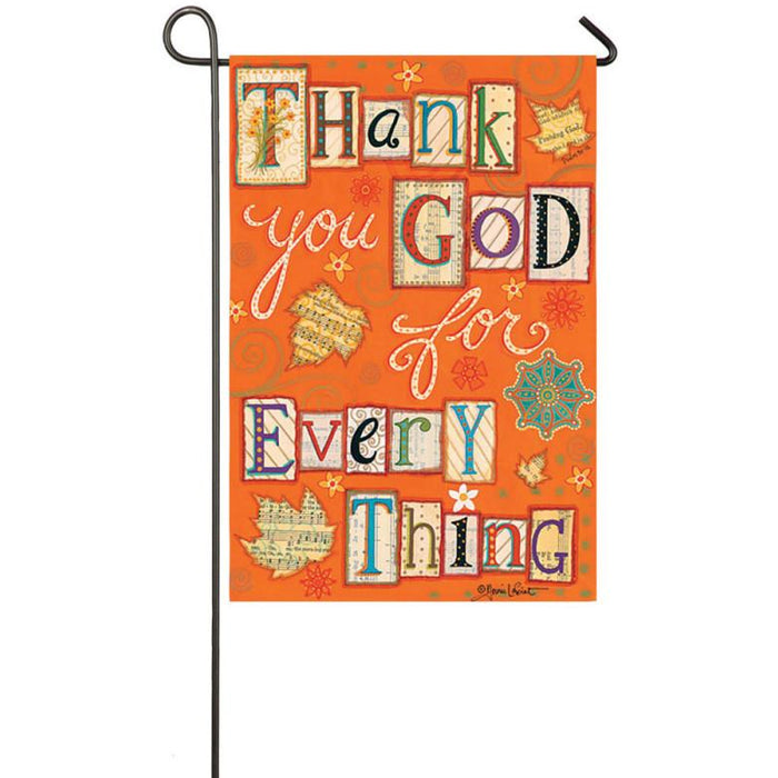 Thank You God - Garden Flag