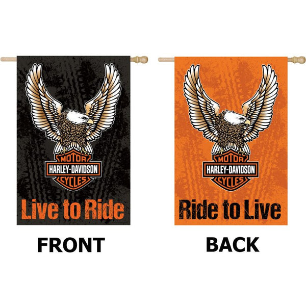 Harley Davidson Live to Ride/Ride to Live - House Flag - House Flag - FlagsOnline.com by CRW Flags Inc.