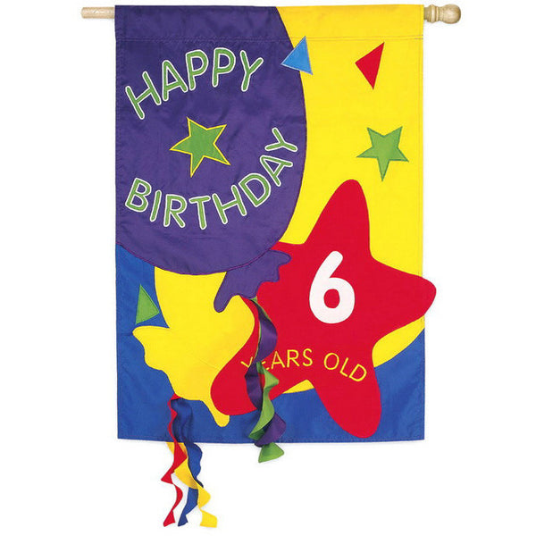 Count The Happy Birthday Years - House Flag - FlagsOnline.com by CRW Flags Inc.