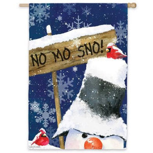 No Mo Sno - House Flag - FlagsOnline.com by CRW Flags Inc.