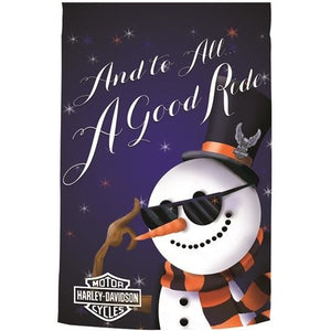 Harley - Holiday Snowman - House Flag