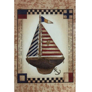 Americana Sailboat - House Flag - FlagsOnline.com by CRW Flags Inc.