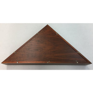 Triangle Wood Display Case with Beveled-Glass for Burial Casket 5x9 1/2ft Flag - Cherry - 3