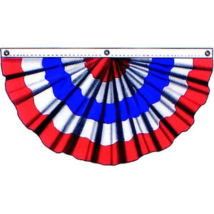 Pleated Fan 3x6' R/W/B without stars - Cotton - FlagsOnline.com by CRW Flags Inc.