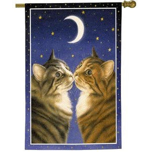 Kissing Cats - House Flag