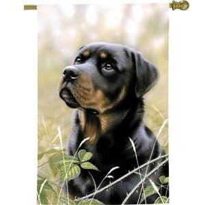 Rottweiler II - House Flag - FlagsOnline.com by CRW Flags Inc.