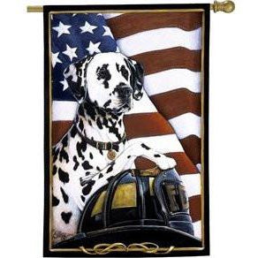 Dalmation Fire Dog - House Flag