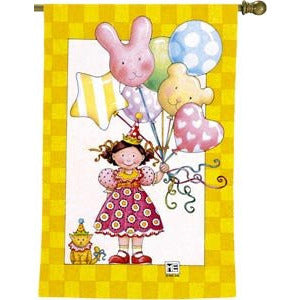 Balloon Birthday - House Flag - FlagsOnline.com by CRW Flags Inc.