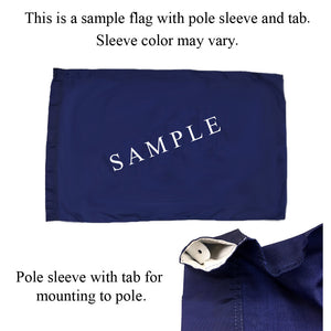 Pole sleeve flag sample