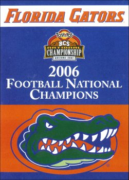 University of Florida 2006 Champs House Flag 2 Sided
