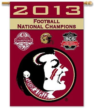 Florida State University 2014 Champs House Flag 2 Sided