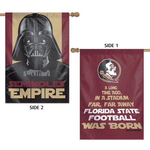 Florida State University Darth Vader House Flag 2 Sided