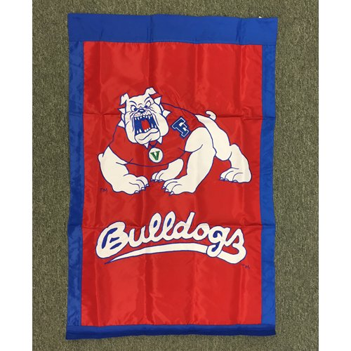 Fresno State University House Sewn Flag 2 Sided